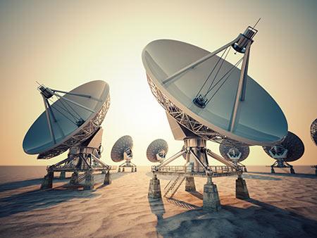 ADS-B-Empaenger Satellitenschuessel