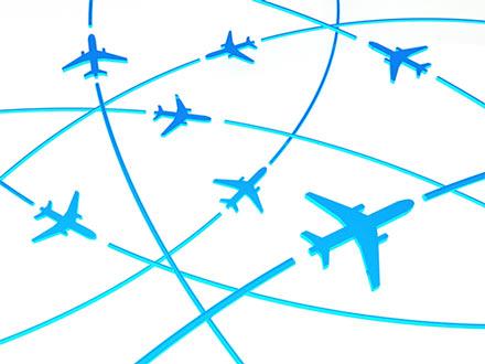 Flugverfolgung Flugrouten und Flugdaten