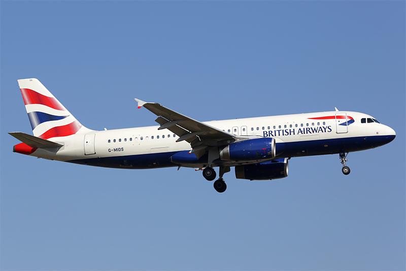 Airbus A320 von British
